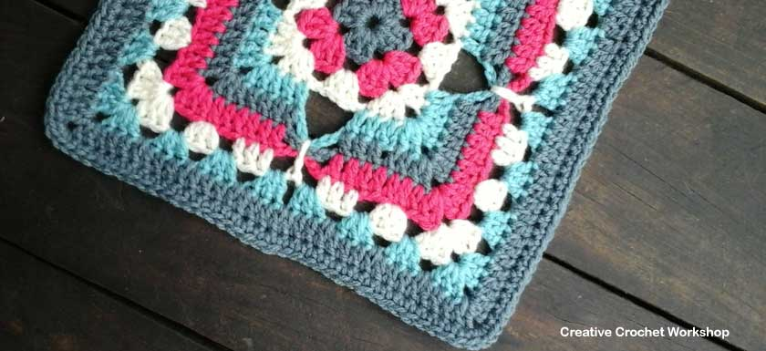 Psychedelic Fun With Garden >> Four Point Butterfly Granny Square |Creative Crochet Workshop