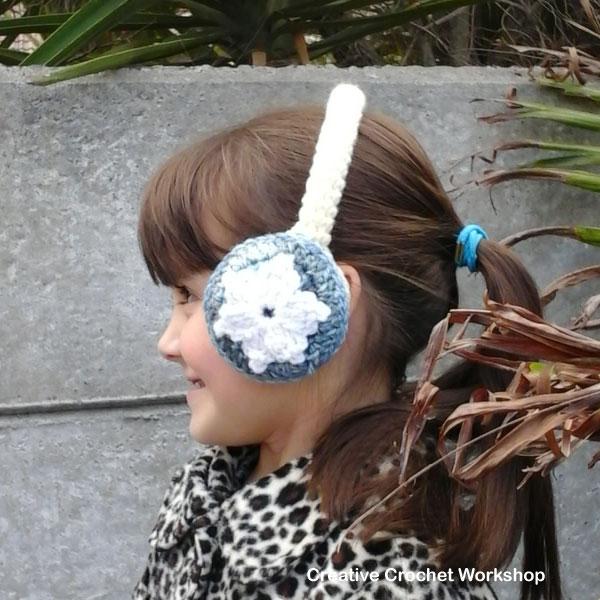 Snow Flower Ear Warmers